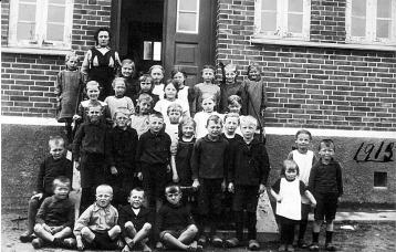 Skolebillede 1917 Vaarst kommuneskole