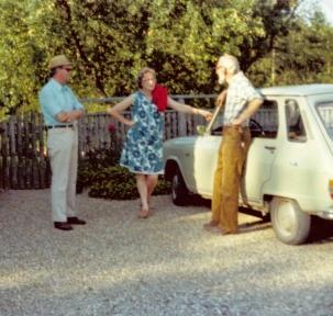 Aage og Ruth på besøg