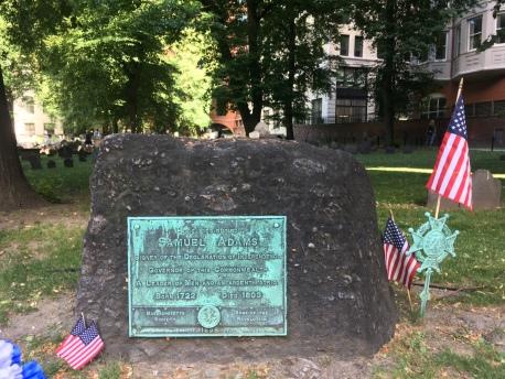 Samuel Adams headstone