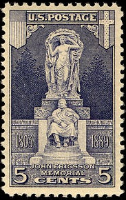John Ericsson memorial on stamp