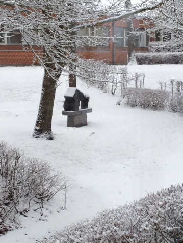 Skulptur af Erik Varming - vinter