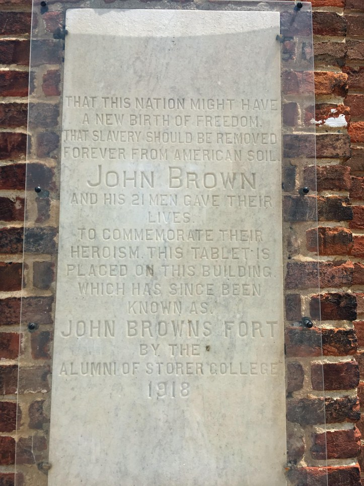 Tablet on John Brown Fort
