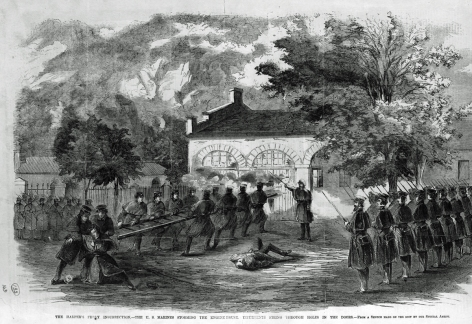 John Brown's Fort 1859 US Marines storming the house.