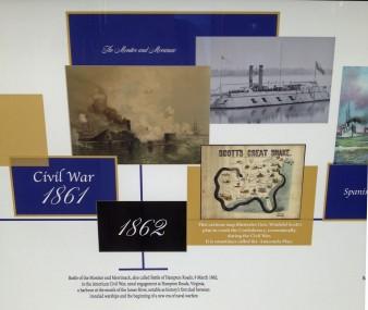 Display at the Navy Memorial visitor center