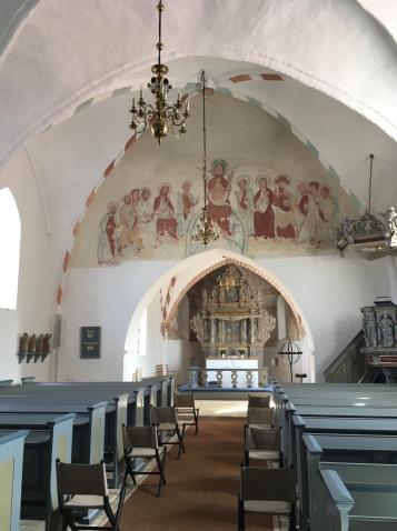 Det indre af Nørre Alslev kirke