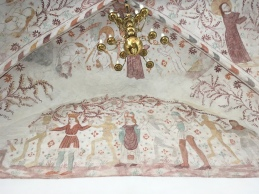 Nørre Alslev kirke kalkmaleri
