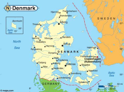 Viborg centrum af Jylland