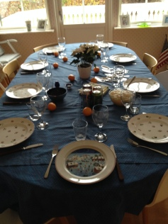 The table set - no food yet