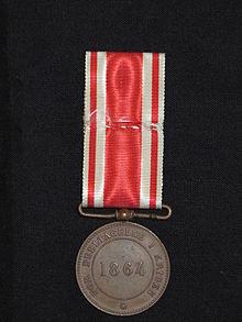 Erindringsmedalje_for_Krigen_1864._Bagside.