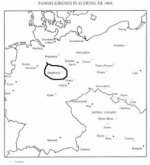 Angivelse af Magdeburg, hvor fangerne fra Oversø slaget blev anbragt