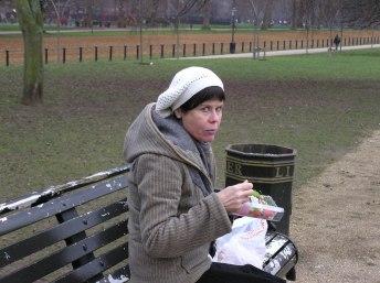 London - frokost i det grønne januar