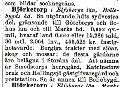 Bjørketorp 1882-2