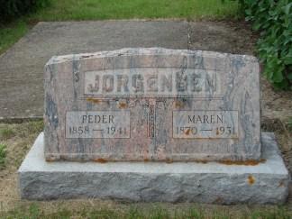 Maren & Peder headstone