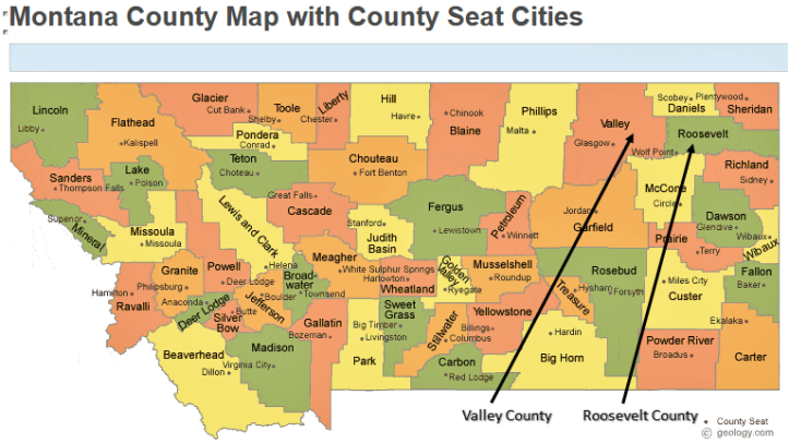 Valley County Roosevelt County