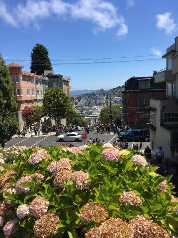 Lombard Street - half way up