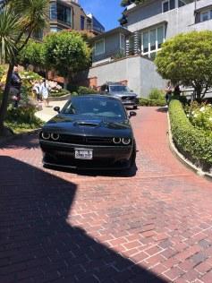 Lombard Street - cars on way down