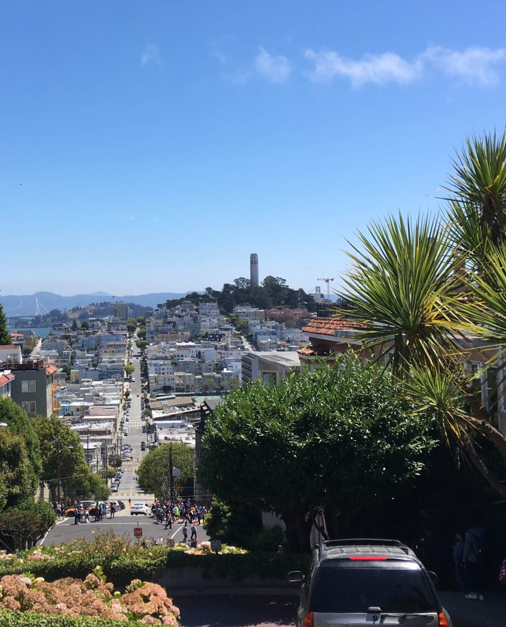 Lombard Street - view from the top