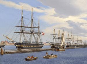 Eckersberg Fregatter udrustes på Holmen 1849ter_under_Equipering_i_Foraaret_1849_-_1850