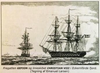 Gefion og Christian VIII