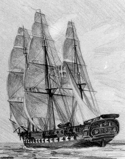 Fregatten Gefion (Orlovsmusset1843)