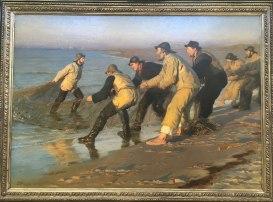 Fiskere trækker vod - PS Krøyer 1883