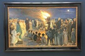 Sankt Hans blus på Skagen Strand - PS Krøyer 1906