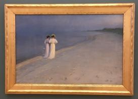 Pigerne på stranden - PS Krøyer 1892
