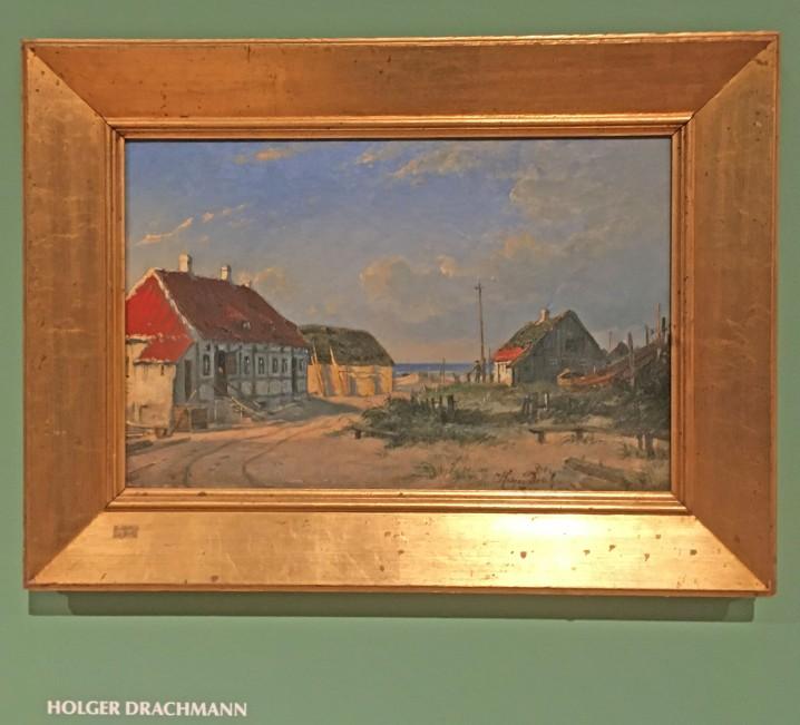 Skagen huse malet af Drachmann 1882