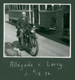 LP og hans motorcykel
