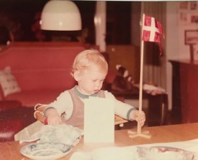 Flaget: Andreas undersøger flaget