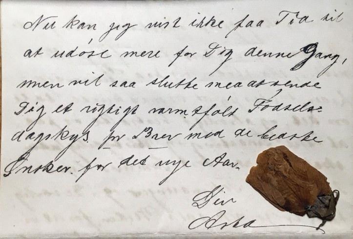 Nyboder 1 sept 1919 Brev til Emry fra Asta
