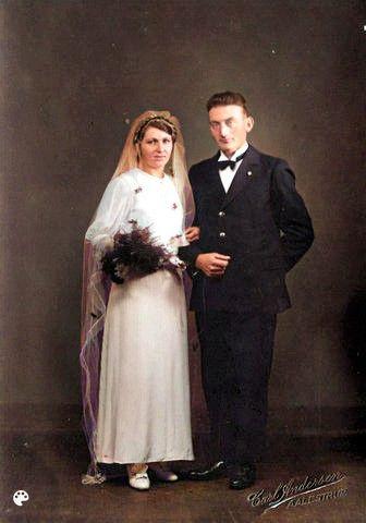 Bryllupsbillede Far&Mor