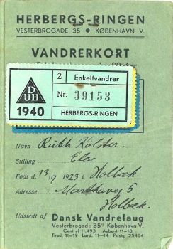 Ruths vandrekort 1940