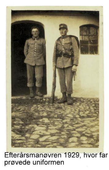 Prøver soldater uniformen