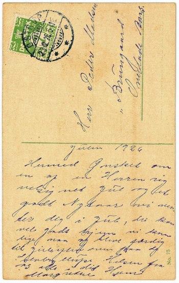 Julen 1926 - Anna i Hjemmet i Nyrup