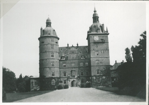 Vallø slot med Engelsk landskabshavestil