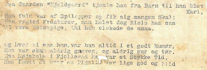 Sang til Niels og Marie Jørgensens Sølvbryllup