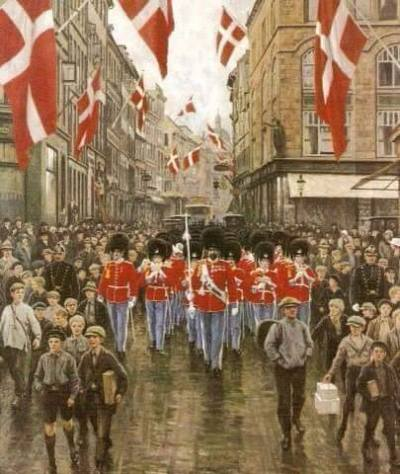 Poul Fisher Kongens Fødselsdag 1925 Østergade