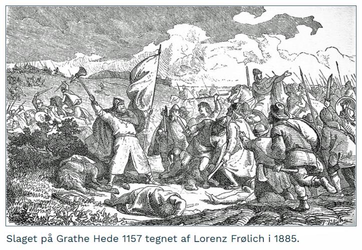 Slaget på Grathe Hede - Lorenz Frølich 1885