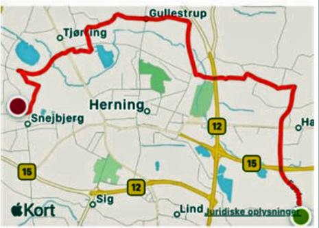 Maria Nytårsløb rute