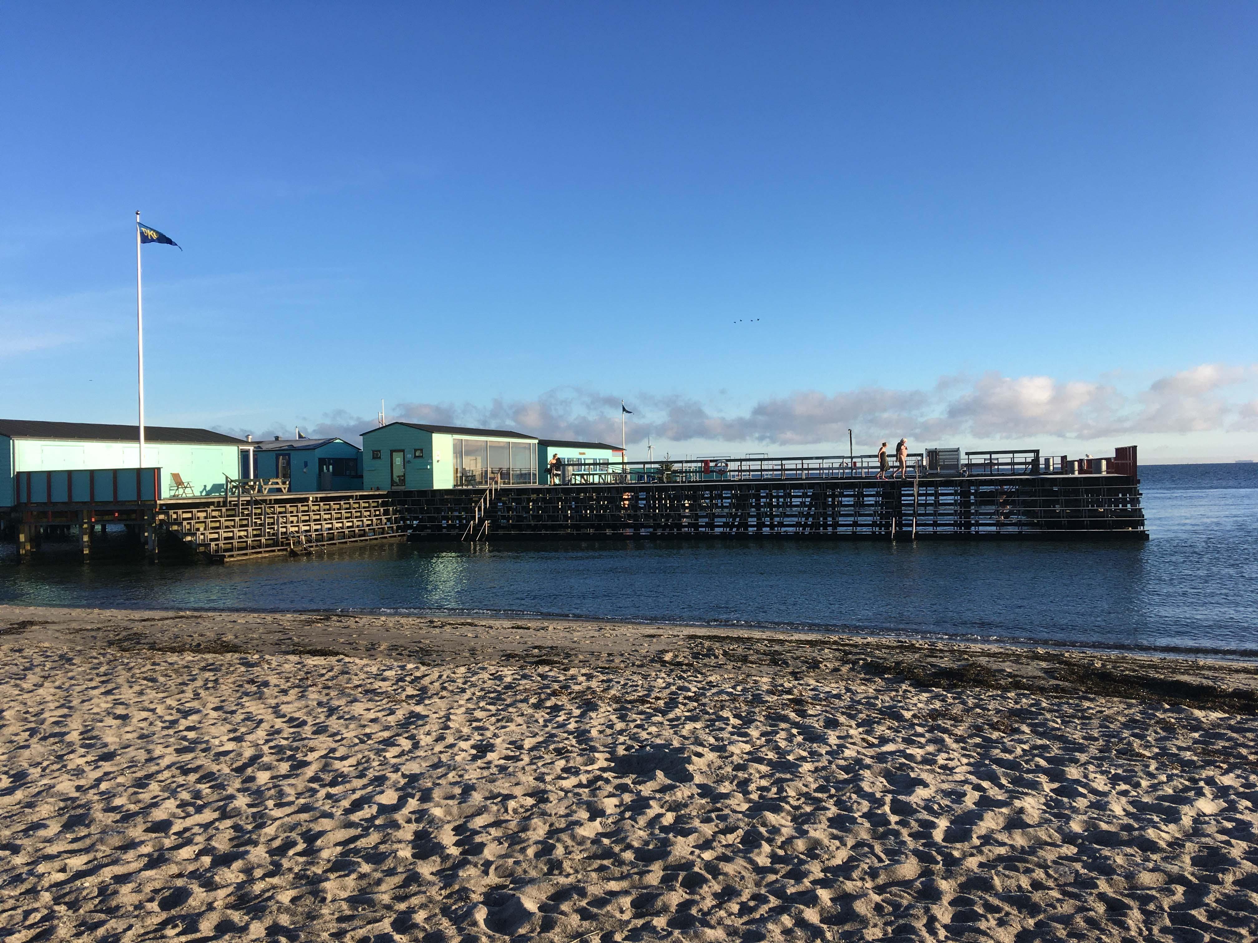 Helgoland en kold vinterdag